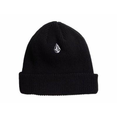 ボルコム メンズ 帽子 アクセサリー Full Stone Beanie Black 1