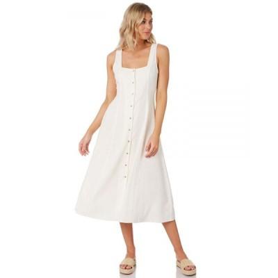 ローラズ Rollas レディース ワンピース ワンピース・ドレス Claire Linen Dress Vintage white