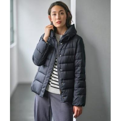 【自由区】 BRIGHT SATIN ショート丈ダウン レディース ネイビー 30 JIYU-KU