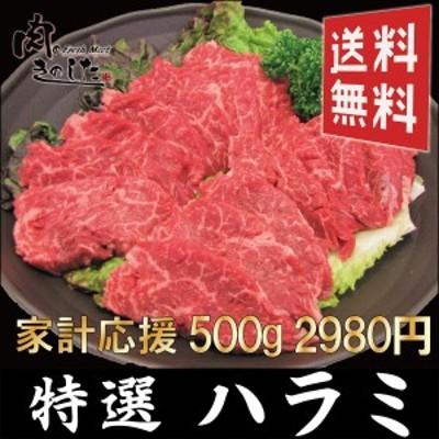 牛 特選ハラミ 500g  牛肉 BBQ バーベキュー 焼肉 大容量 送料無料 ハラミ肉