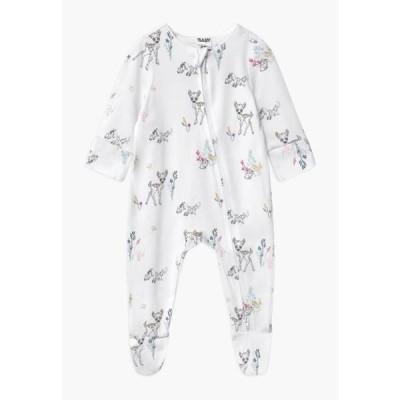コットンオン キッズ ファッション DISNEY BAMBI LONG SLEEVE ZIP UNISEX - Sleep suit - white