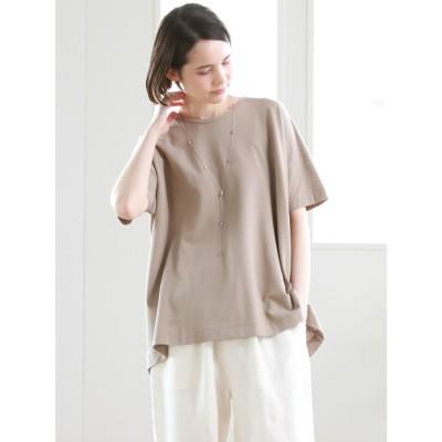 パオデロ Pao de lo ビヨンド強撚引き揃えTシャツ (キャメル)