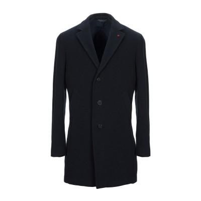 マニュエル リッツ MANUEL RITZ コート ダークブルー 56 バージンウール 70% / ナイロン 20% / カシミヤ 10% コート
