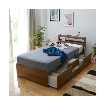 ベッド下にたっぷり収納できる棚付き引き出し収納ベッド 収納付きベッド, 収納ベッド, Beds(ニッセン、nissen)