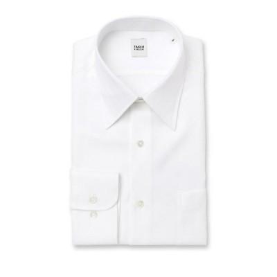 TAKEO KIKUCHI / タケオキクチ 【 WEB限定 】ホワイト×ホワイト ビジネスシャツ