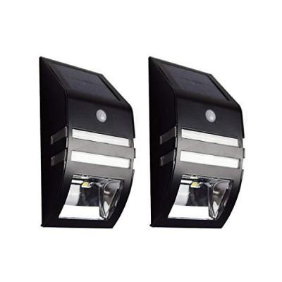 ブラック 1個 ZAZ 屋外 LED センサーライト 太陽光充電 ソーラー充電 玄関 ガーデンライト 防水 IPX4 新型 明るさセンサー