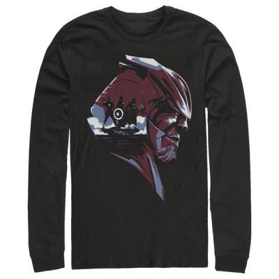 マーベル メンズ Tシャツ トップス Men's Avengers Endgame Thanos Helmet Scene Long Sleeve T-shirt