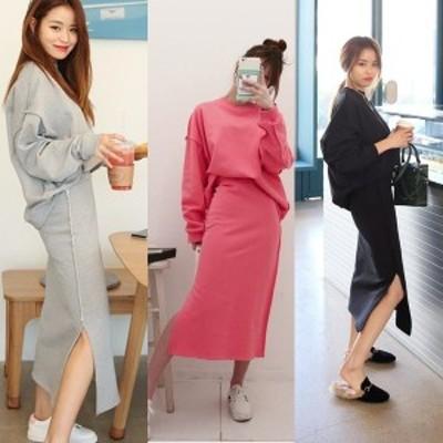 スウェット セットアップ レディース スカート 春 韓国 ファッション 春服 レディース おしゃれ スウェット 上下レディースセットアップ