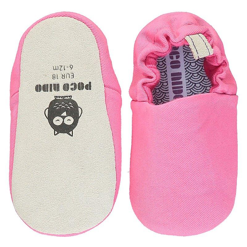 Poco Nido (英國) 嬰兒 BB鞋 學行/學步鞋仔 -  淨色 亮粉色