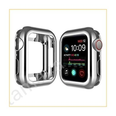 Qinfeng Shock-Proof Anti-Scratch and Shatter-Resistant Soft Slim TPU Protective Cover Bumper Case Compatible with Apple Watch Series 44mm 42