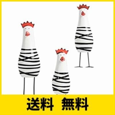 (イスイ)YISHUI にわとり 置物 北欧雑貨 かわいい 鶏 インテリア 飾り物 木製 3個セット HP0115