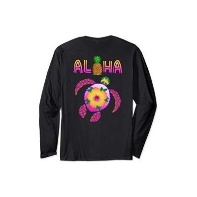Tシャツ 男性向 Aloha Honu TurtleハワイアンロングスリーブTシャツ