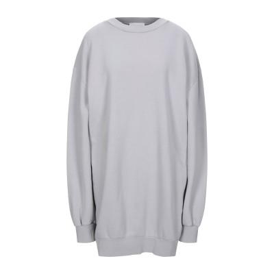 P_JEAN スウェットシャツ ライトグレー S コットン 100% / ポリ塩化ビニル スウェットシャツ