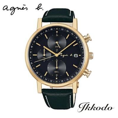 今ならアニエスベー扇子プレゼント あすつく アニエスベー agnes b ソーラー クロノグラフ 41mm 10気圧防水 日本国内正規品 1年保証 メンズ腕時計 FBRD936