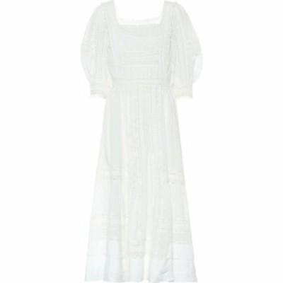 ラルフ ローレン Polo Ralph Lauren レディース ワンピース ミドル丈 ワンピース・ドレス lace-trimmed midi dress Cream