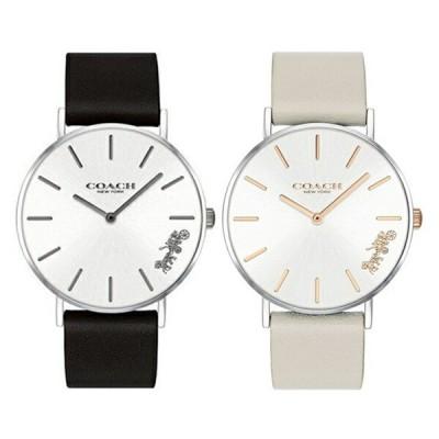 【ペアボックス付】コーチ 腕時計 ペアウォッチ ペリー おそろい 同サイズ 革 時計 シンプル スリム ブラック グレー 1450311514503116 カップル 男女 ペアセット 誕生日 お祝い