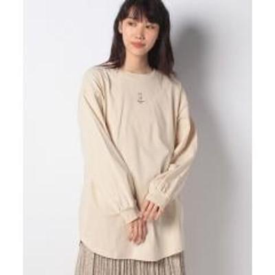 ehka sopo(エヘカソポ)【ehka sopo】ワンポイント刺繍ビッグロンT