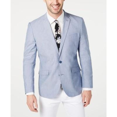 アンリステッド メンズ ジャケット・ブルゾン アウター Men's Slim-Fit Chambray Sport Coat