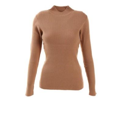 ハイゲージリブ編みセーター 872PA0CG7084BRN オンライン価格