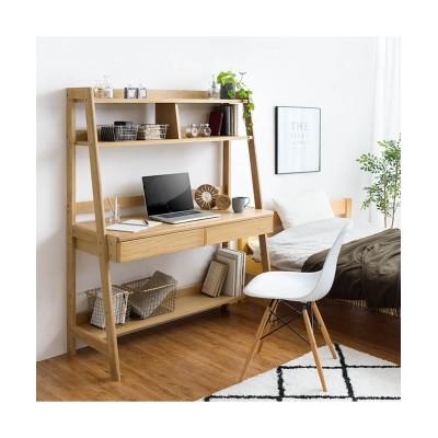 機能充実!オシャレな天然木2WAYデスク(コンセント付き) デスク・机・ワークテーブル, Desks(ニッセン、nissen)
