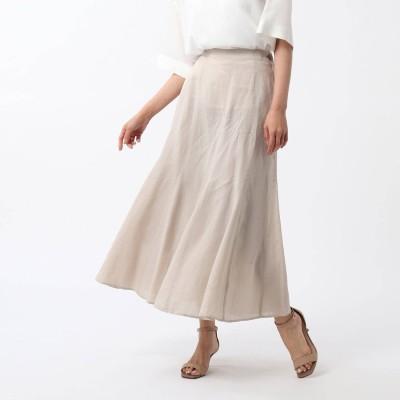 アンタイトル UNTITLED 【洗える】ふんわり 麻マーメイドスカート (ナチュラル)