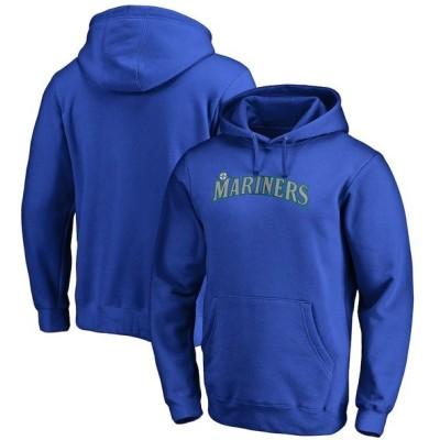 ファナティクス パーカー・スウェットシャツ アウター メンズ Seattle Mariners Fanatics Branded Big & Tall Team Wordmark Pullover Hoodie Royal