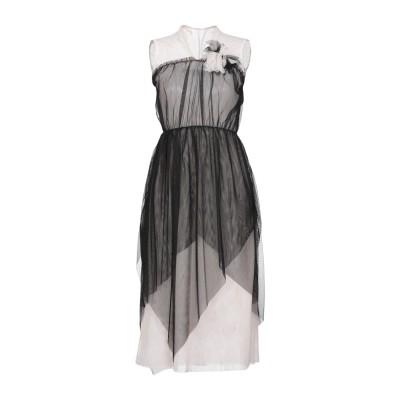 カオス KAOS 7分丈ワンピース・ドレス ブラック 44 100% ポリエステル 7分丈ワンピース・ドレス