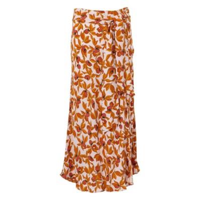 【Diane von Furstenberg】ガーデンプリントスリットスカート