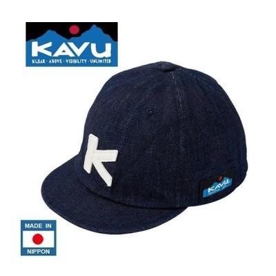 あすつく商品KAVU カブー デニム ベースボールキャップ キッズ アメカジ クラシック野球帽子 日本製