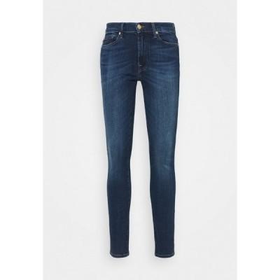 7フォーオールマンカインド デニムパンツ レディース ボトムス CROP ILLUSION NEVER ENDING - Jeans Skinny Fit - mid blue