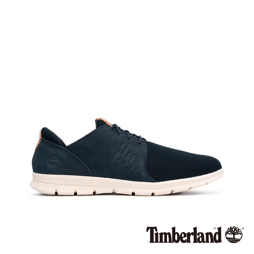 Timberland 男款海軍藍正絨面皮革牛津休閒鞋|A1XF2019