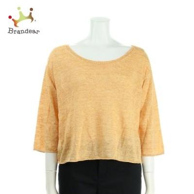 ギャルリーヴィー 七分袖セーター サイズM レディース 美品 オレンジ系 ニット・セーター 新着 20201013