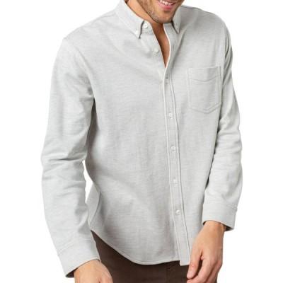 レイルズ メンズ シャツ トップス Men's Runson Heathered Pocket Sport Shirt