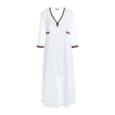 MALÌPARMI 7分丈ワンピース・ドレス ホワイト 42 コットン 100% 7分丈ワンピース・ドレス