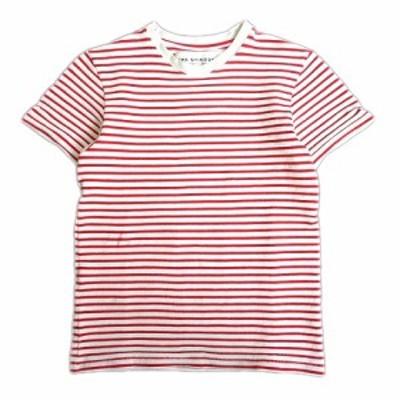 【中古】シンゾーン Shinzone ボーダー Tシャツ カットソー 半袖 ストレッチ 丸首 15AMSCU01 F 白×赤 ▼9