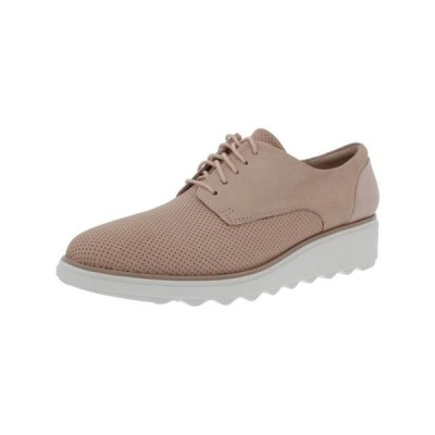 レディース 靴 コンフォートシューズ Clarks Womens Sharon Crystal Leather Lace-Up Oxfords Beige 9 Medium (B M)
