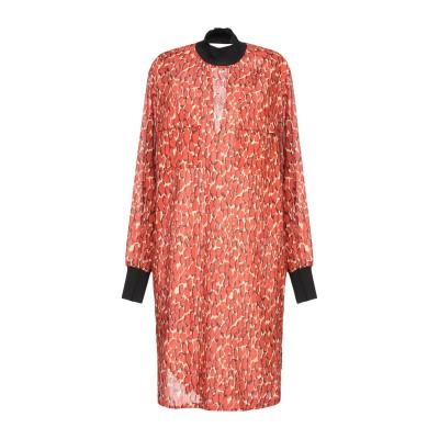 バイ・マレーネ・ビルガー BY MALENE BIRGER ミニワンピース&ドレス 赤茶色 34 コットン 100% / レーヨン / ポリウレタン