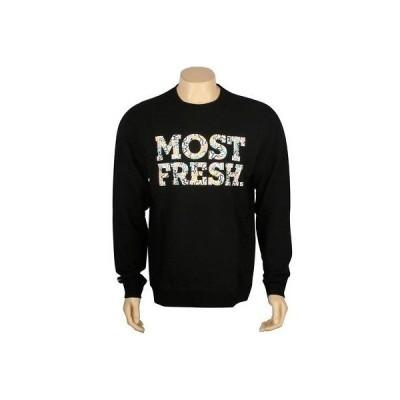 アクティブウェア トップス メンズ ネフ Neff Most Fresh Crewneck (black) F13620BLK