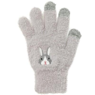 22柄から選べる♪スマホ対応アニマル手袋 ウサギ