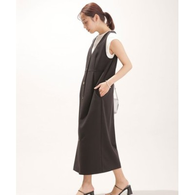 WEB限定/フロントボタンジャンパースカート