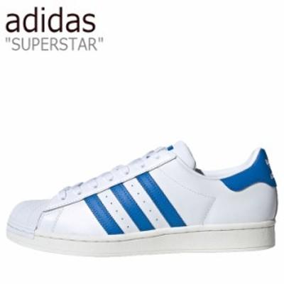 アディダス スーパースター adidas メンズ レディース SUPERSTAR スーパースター WHITE ホワイト BLUE ブルー FW4406 シューズ