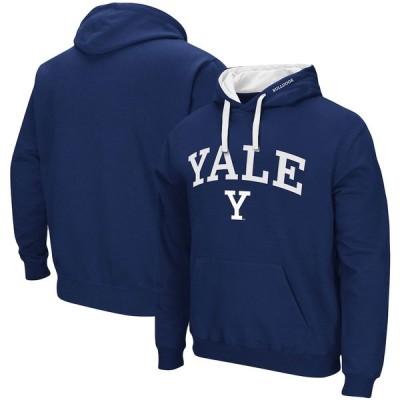 """メンズ パーカー """"Yale Bulldogs"""" Colosseum Arch - Logo 2.0 Pullover Hoodie - Navy"""