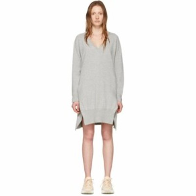 ステラ マッカートニー Stella McCartney レディース ワンピース Vネック ワンピース・ドレス Grey Cashmere V-Neck Sweater Dress Grey