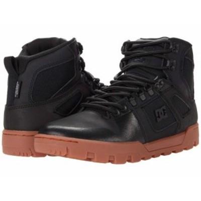 DC ディーシー メンズ 男性用 シューズ 靴 スニーカー 運動靴 Pure High-Top WR Boot Black/Gum 1【送料無料】