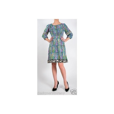 ドレス トラーニ Tolani Ashley Tunic Mini Dress in Blue Paisley 8221