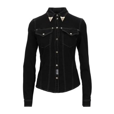 VERSACE JEANS COUTURE デニムシャツ ブラック 36 コットン 98% / ポリウレタン 2% デニムシャツ