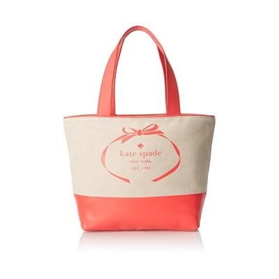 kate spade new york Heritage Spade Logo Summer Shoulder Bag, Natural/Geranium, One Size