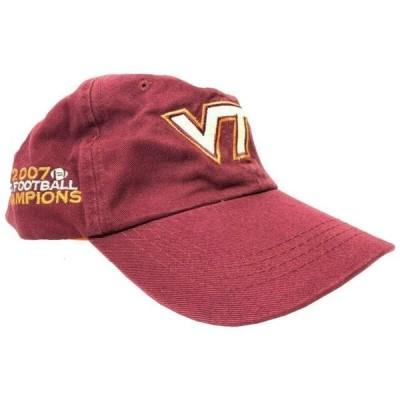 ユニセックス スポーツリーグ アメリカ大学スポーツ NCAA Maroon Virginia Tech Hokies 2007 ACC Champions Adjustable Buckle Strap C