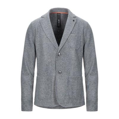 DISTRETTO 12 テーラードジャケット グレー 52 アクリル 54% / バージンウール 24% / ポリエステル 22% テーラードジャ