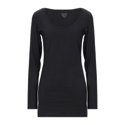 PIECES T シャツ ブラック XL コットン 93% / ポリウレタン 7% T シャツ